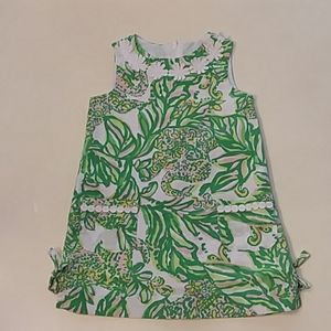 Lilly Pulitzer green pink elephant print dress 4